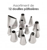 12-Piece Pastry Tip/Tube