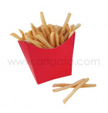 6 French Fry Boxes - Vintage-Style Red