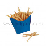6 French Fry Boxes - Vintage-Style Blue