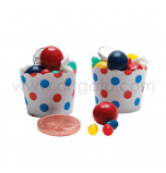 Circus Birthday Party | 24 Baking Cups, Ø 3,7 cm x 5,5 cm High