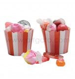 Sweet Soiree Birthday Party | 24 Baking Cups, Ø 3,7 cm x 5,5 cm High
