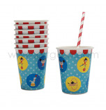 Circus Birthday Party | 8 Drinking Cups 25 cl.