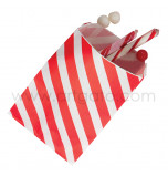 12 Party Favour Bags | Striped Red