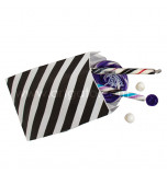 12 Party Favour Bags | Striped Black