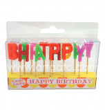 Birthday Candles - Letters | HAPPY BIRTHDAY -  2,5 cm High, Rainbow