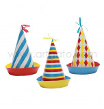 Circus Birthday Party | 6 Party Hats, 3 assorted Designs