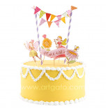 Cake Decorating Set | Make a Wish - 5 Cake Toppers and mini Flag Bunting
