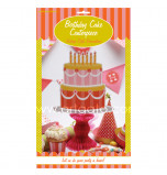 Sweet Soiree Birthday Party   Tier Cake Centerpiece
