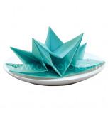 Paper Napkins | Aqua Blue, Fancy Fold - Box of 12
