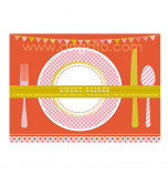 Sweet Soiree Birthday Party | 12 Placemats - 37,5 x 25 cm