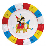 Circus Birthday Party   8 Round Plates 20 cm