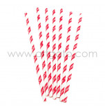 25 Paper Straws| HAPPY BIRTHDAY Red