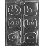 Moule à Chocolat, Alphabet (5 Moules)