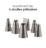 6-Piece Pastry Tip/Tube