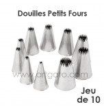 10-Piece Pastry Tip/Tubes | French Star/Petits-Fours Ø 4 à 18 mm