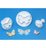 Plunger Cutters, BUTTERFLIES - large Size, Set of 3