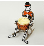 Cupcake Holders Meri Meri® | Halloween Skeleton - 8 Cupcake Holders