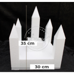 Novelty Cake Dummy | Castle Kit n° 3 (5 Turrets + 5 Roofs + Square Base + Tower)
