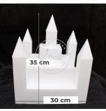 Novelty Cake Dummy | Castle Kit n° 4 (5 Turrets + 5 Roofs + 3 Square for Base and main Tower)