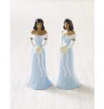 Mariée ou Demoiselle d'Honneur Afro-américaine Robe Bleu Ciel