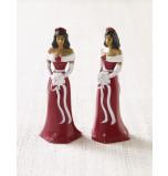 Mariée ou Demoiselle d'Honneur Afro-américaine Robe Bordeaux, jeu de 2