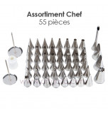 55-Piece Decorating Tip/Tube Set | Chef
