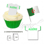 Wafer Toppers | Football T-Shirts 43 x 45 mm - Team Algeria