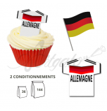 Wafer Toppers | Football T-Shirts 43 x 45 mm - Team Germany