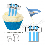 Wafer Toppers | Football T-Shirts 43 x 45 mm - Team Argentina
