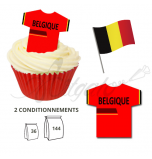 Wafer Toppers | Football T-Shirts 43 x 45 mm - Team Belgium