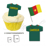 Wafer Toppers | Football T-Shirts 43 x 45 mm - Team Cameroon
