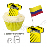 Wafer Toppers | Football T-Shirts 43 x 45 mm - Team Columbia