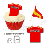Wafer Toppers | Football T-Shirts 43 x 45 mm - Team Spain