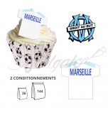 Wafer Toppers | Football T-Shirts 43 x 45 mm - FC Olympique de Marseille / OM