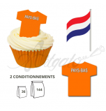Wafer Toppers | Football T-Shirts 43 x 45 mm - Team Netherlands