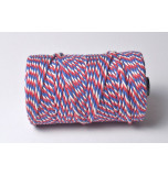 Chunky Baker's Twine | Tri-colour Blue White Red - 10 m Spool