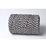 Chunky Baker's Twine | Two tone White and Black - 10 m Spool