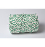 Chunky Baker's Twine | Two tone White and Emerald Green - 10 m Spool