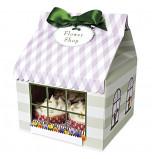 3 Boîtes pour 4 Cupcakes Fleuriste Mauve