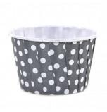 6 Caissettes Friandises (Nut Cups) | Grises à pois