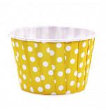 6 Caissettes Friandises (Nut Cups) | Jaunes à pois