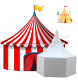 Novelty Cake Dummy | Circus Tent / Medieval Knight Tent - Ø 20 cm x 22 cm High