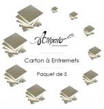 5 Cartons à Entremets - Argent - Carrés