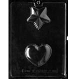 Moule à Chocolat, Cœur et Étoile