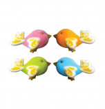 Sugar Decorations | Birds of Fancy 4 cm - 35 pieces, 4 Colours