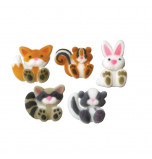 Sugar Decorations | Woodland Animal 25 and 35 mm - 30 pieces, 5 Designs