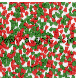 Sugar Confetti | Red and Green Christmas Trees - 240 g Jar