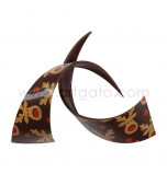 "Chocolate Decorations | Ribbons Dark Chocolate ""Rudolf"" 9 cm - 69 pieces"
