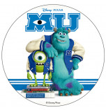 Edible Cake Topper | Monsters University, James & Mike on books, Wafer Cake Disc Ø 20 cm