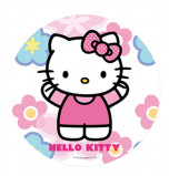 Edible Cake Topper | Hello Kitty - Pink Dress, Wafer Cake Disc Ø 20 cm